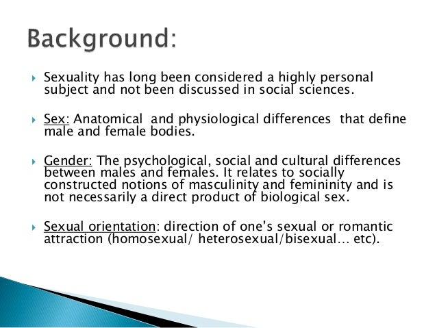 Define sexuality