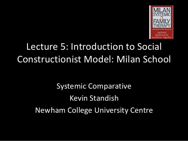 Lecture 5: Introduction to Social Constructionist Model: Milan School Systemic Comparative Kevin Standish Newham College U...