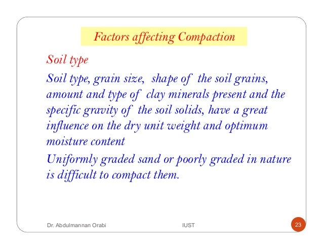 Lecture 5 soil compaction for Minerals present in soil