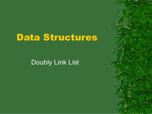 Data Structures  Doubly Link List