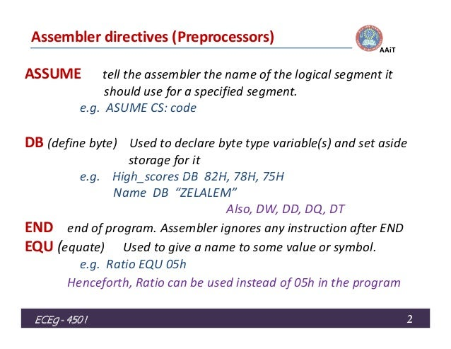 assembly language lecture6 Video lectures on  microprocessors and microcontrollers  by prof ajit pal, dept of computer science & engg, iit kgp.