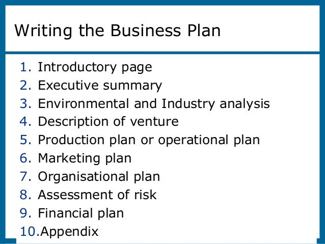 The Business Plan: Creating and Starting the Venture