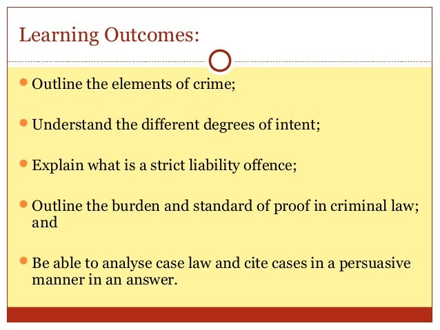 the elements of criminal liability How can the answer be improved.