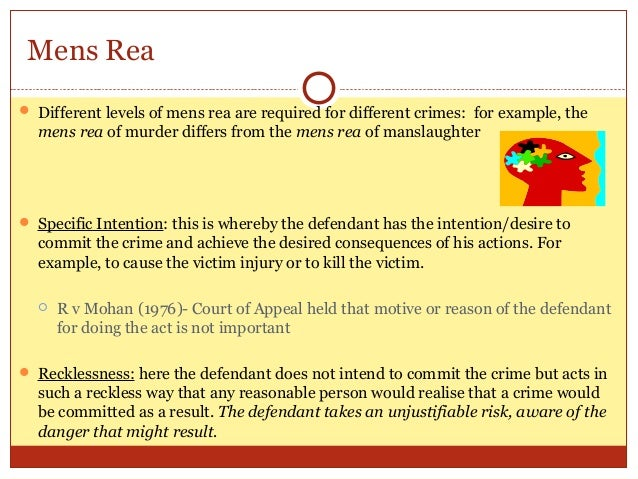 mens rea short notes Proving actus reus or mens rea: examples  free oscola referencing free case summaries free act summaries free lecture notes free problem question examples .