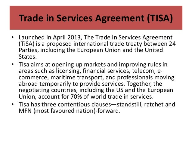 Lecture # 63   trade in services agreement (tisa) Slide 2