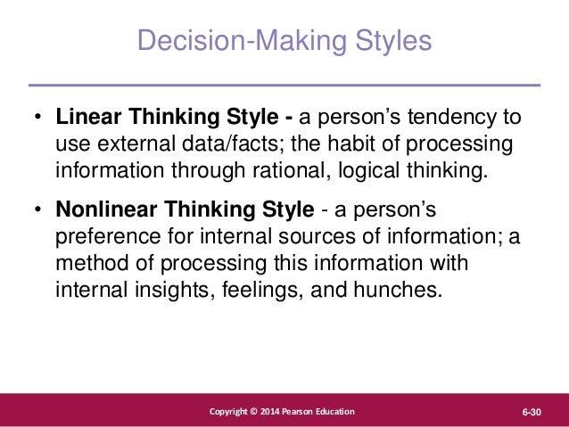 Copyright © 2012 Pearson Education, Inc. Publishing as Prentice Hall Copyright © 2014 Pearson Education 6-30 Decision-Maki...