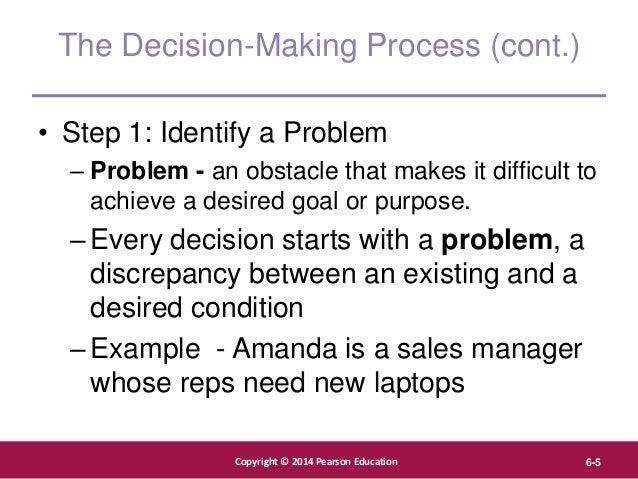 Copyright © 2012 Pearson Education, Inc. Publishing as Prentice Hall Copyright © 2014 Pearson Education 6-5 The Decision-M...