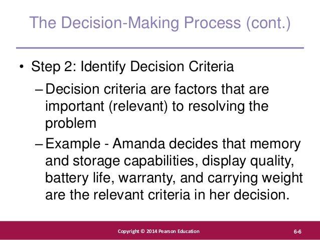 Copyright © 2012 Pearson Education, Inc. Publishing as Prentice Hall Copyright © 2014 Pearson Education 6-6 The Decision-M...