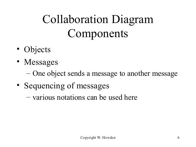 Lecture 6 collaboration diagrams collaboration diagram components ccuart