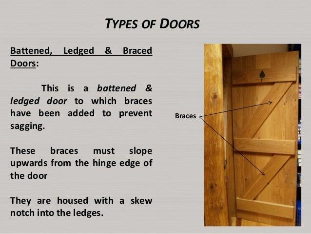 Battens Ledges; 10. TYPES OF DOORS Battened Ledged ...  sc 1 st  SlideShare & Lecture6 doors and windows
