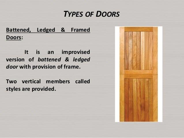 Types Of Back Doors : Ledged door semi framed back view