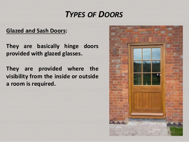 22. TYPES OF DOORS ...  sc 1 st  SlideShare & Lecture6 doors and windows