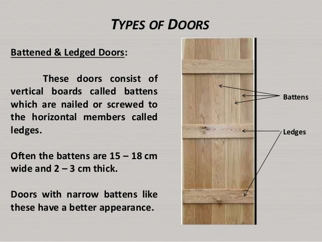 ... 9. TYPES OF DOORS Battened ...  sc 1 st  SlideShare & Lecture6 doors and windows