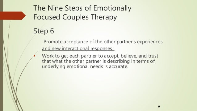 emotionally focused couples therapy essay Use our professionally written essay sample on marriage topic and get better marriage essay sample emotionally focused couple therapy has been found to be.