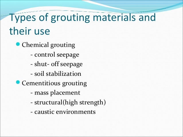 Grouting And Guniting