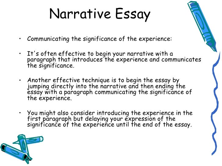 narrative essay about a significant moment
