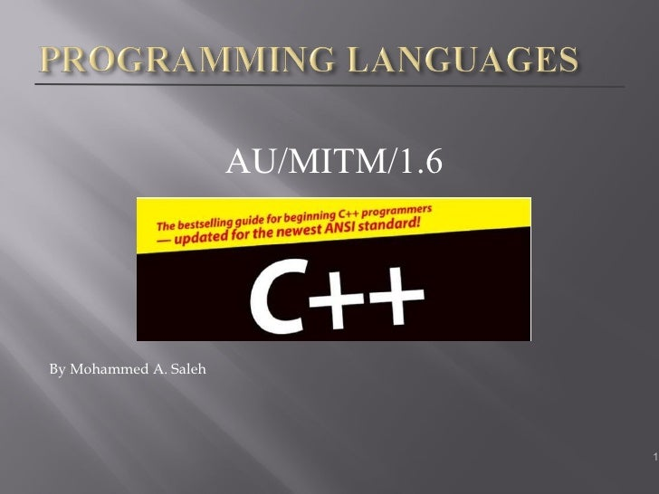 <ul><li>AU/MITM/1.6 </li></ul><ul><li>By Mohammed A. Saleh </li></ul>
