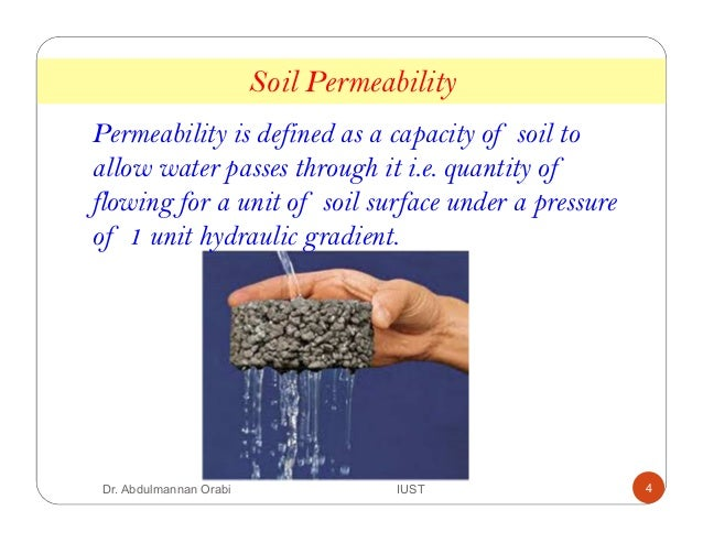 Lecture 6 soil permeability