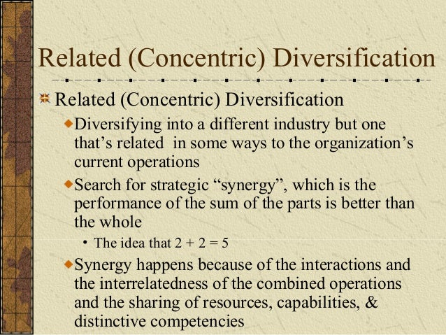 Related diversification is a more successful