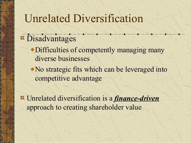 concentric diversification advantages disadvantages