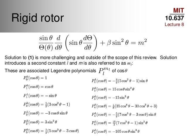 455: rigid rotor derivation (i) youtube.