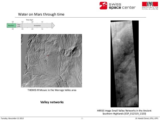 Water on Mars through time  THEMIS IR Mosaic in the Warrego Valles area  Valley networks HIRISE image Small Valley Network...