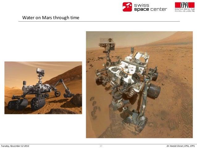 Water on Mars through time  Tuesday, November 12 2013  17  Dr Harold Clenet, EPSL, EPFL