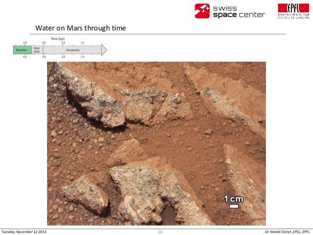 Water on Mars through time  Tuesday, November 12 2013  20  Dr Harold Clenet, EPSL, EPFL