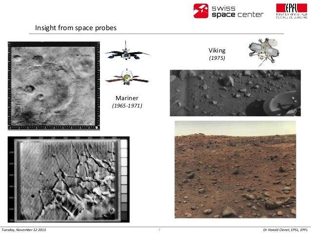 Insight from space probes Viking (1975)  Mariner (1965-1971)  Tuesday, November 12 2013  7  Dr Harold Clenet, EPSL, EPFL