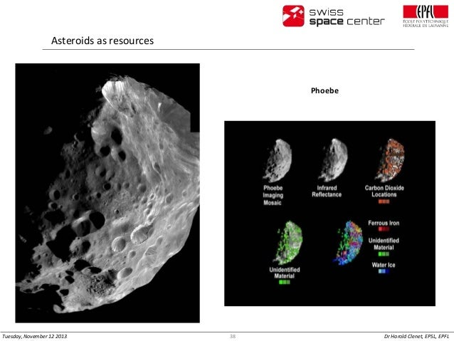 Asteroids as resources  Phoebe  Orion approaching robotic asteroid capture vehicle  Tuesday, November 12 2013  38  Dr Haro...