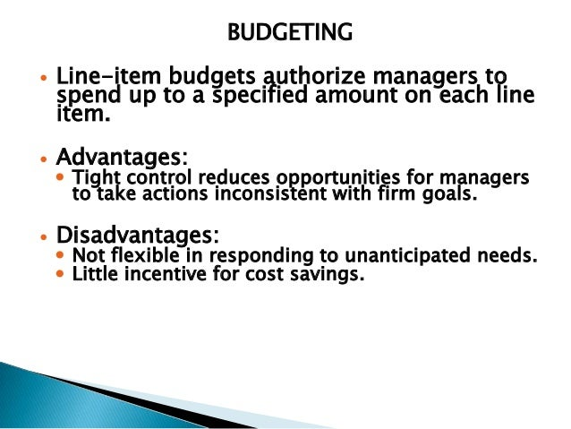 advantage of participative budgeting