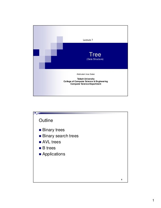 Lecture 7                                     Tree                                  (Data Structure)                      ...