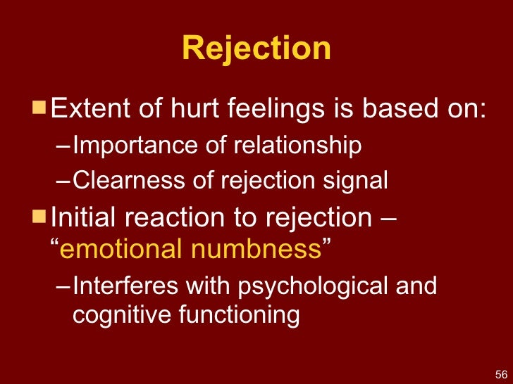 Dealing with rejection in a relationship