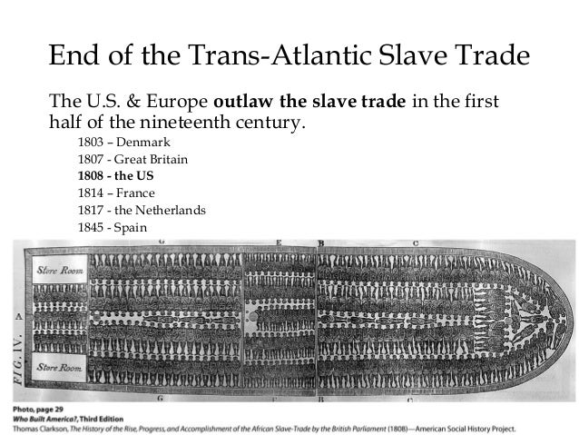 trans atlantiv slave trade The trans-atlantic slave trade database has information on almost 36,000 slaving voyages that forcibly embarked over 10 million africans for transport to the americas between the sixteenth and nineteenth centuries the actual number is estimated to have been as high as 125 million.