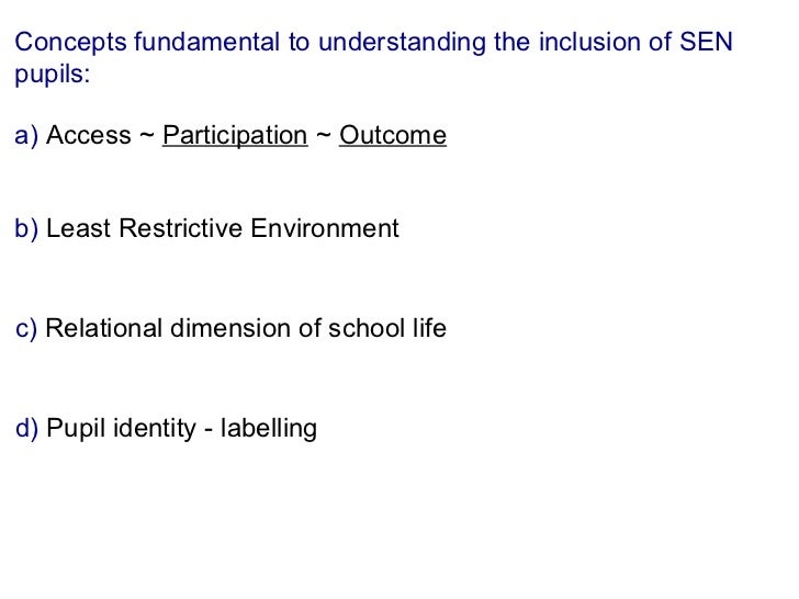 concerns of inclusion Teachers' views (and concerns) about inclusion and their confidence to teach in inclusive classrooms had changed as a result of studying.