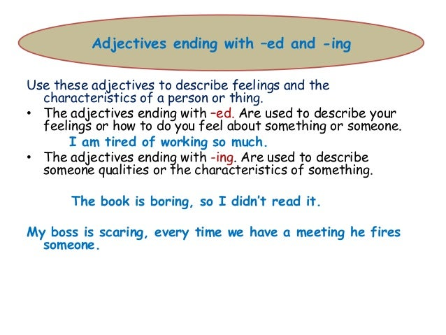 adj ed ing Here you can find a collection of adjectives -ed or -ing downloadable and printable worksheets, shared by english language teachers.