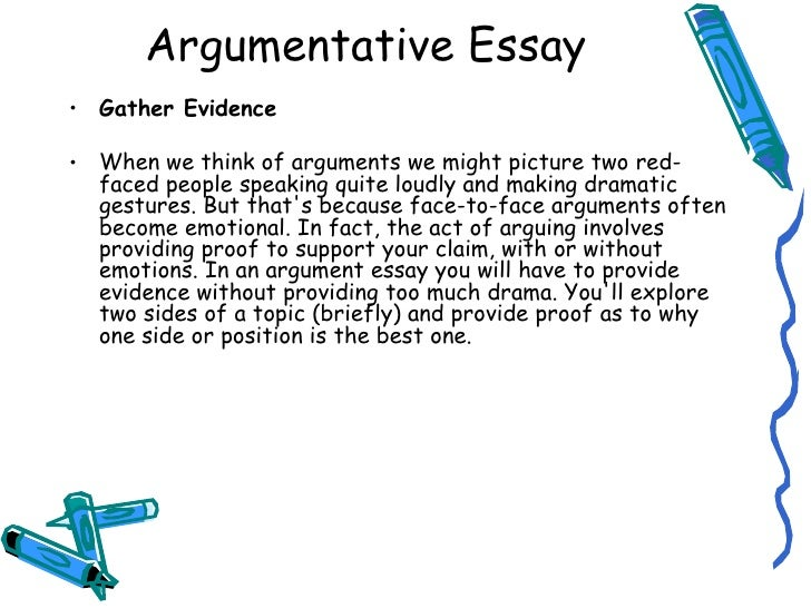 Providing evidence in an essay