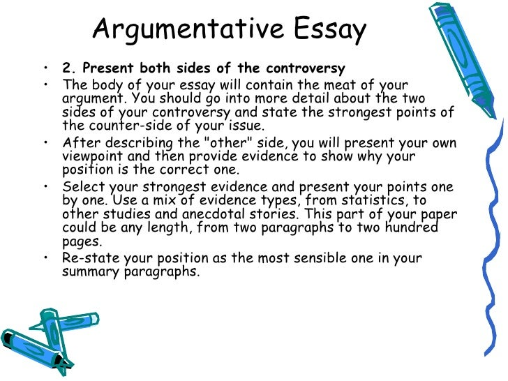 argumentative essay first