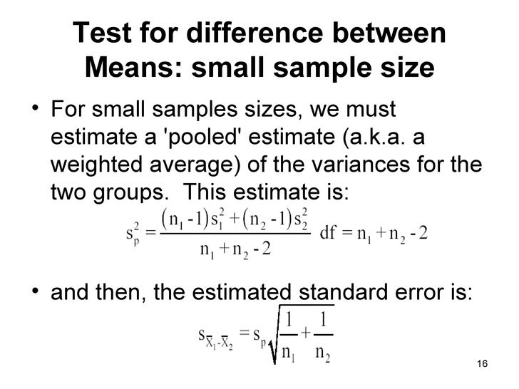 an analysis of the difference between two means This menu selection is used to determine if there is a difference between two means taken from different samples if you know the mean, standard deviation and size of both samples, this program may be used to determine if there is a reliable difference between the means.
