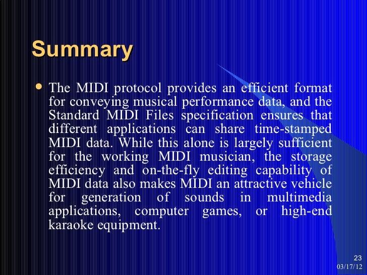 Lecture# 7 midi file format