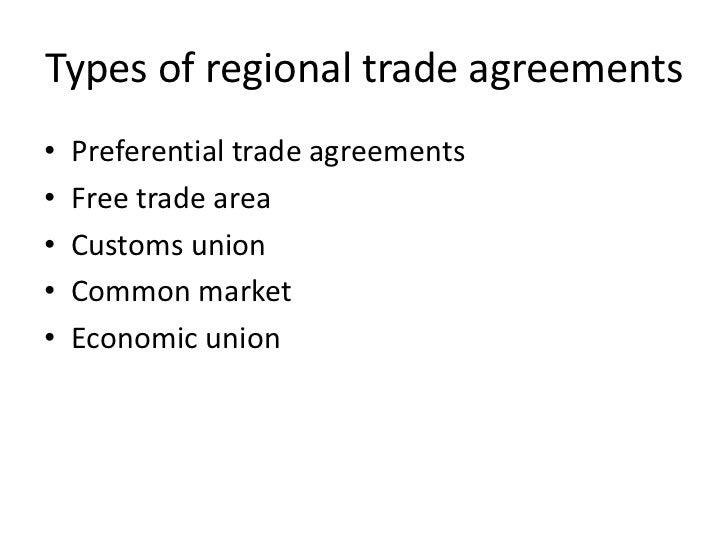 Lecture 7 Regional Economic Integration