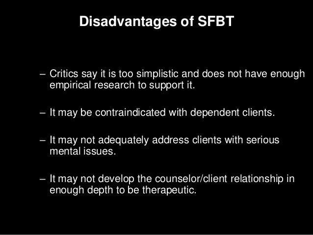 solution focused therapy criticism