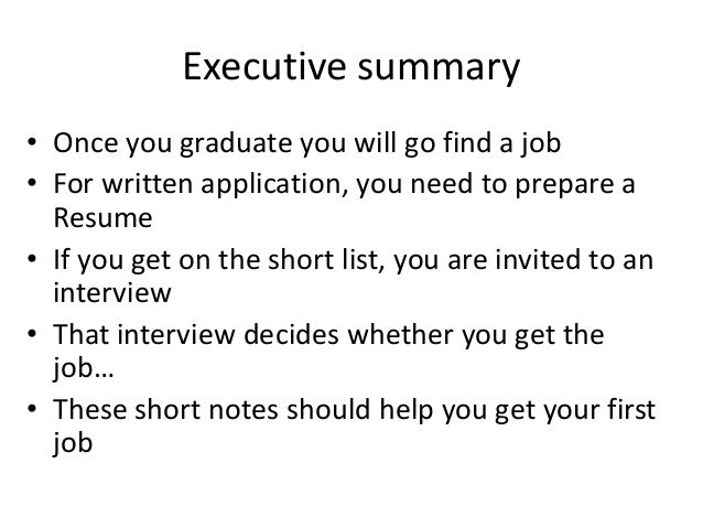 lecture7 writing your first resume
