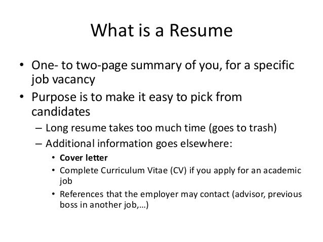 writing my first resumes