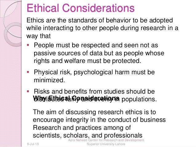 Writing a Research Summary and Ethical Considerations