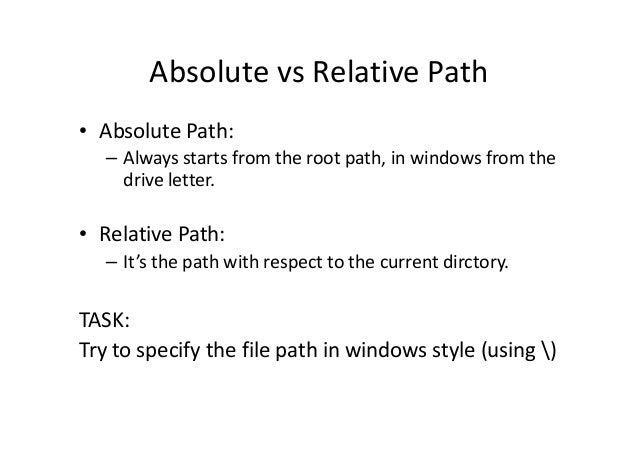python relative path