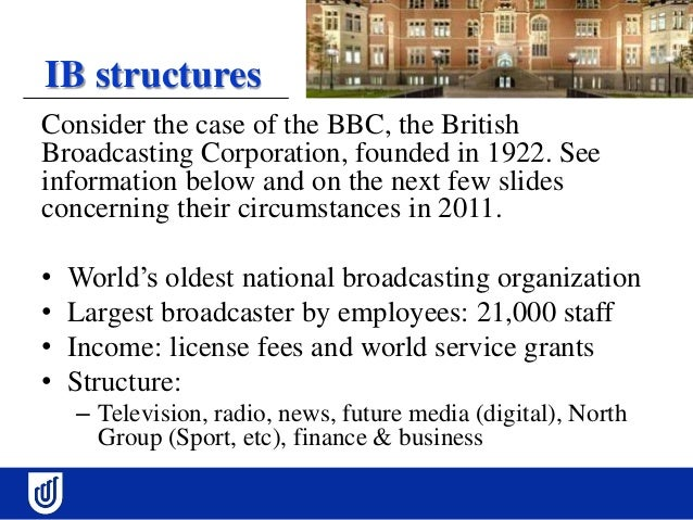 organizational structure of the british broadcasting corporation