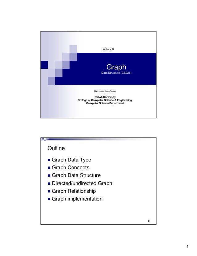Lecture 8                                  Graph                             Data Structure (CS221)                       ...