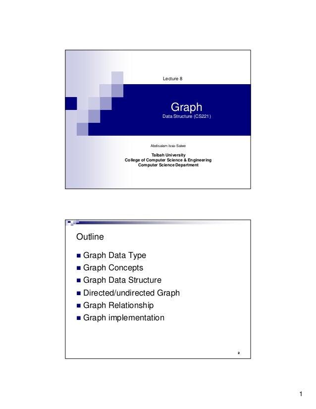 Lecture 8                                  Graph                             Data Structure (CS221)                       ...