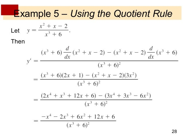 lecture 8 derivative rules